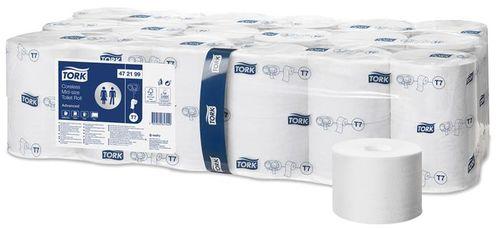 """Toaletný papier, bez vnútorného jadra, 2-vrstvový, mid-size, TORK """"Advanced"""""""
