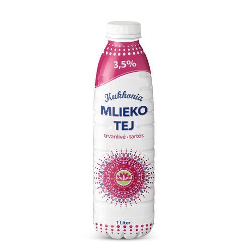 Trvanlivé mlieko Euromilk Žitnoostrovské plnotučné 1l