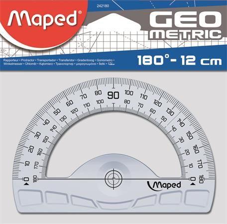 "Uhlomer, plastový, 180°, MAPED ""Geometric"""