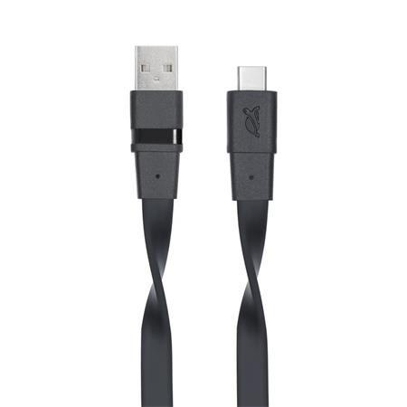 """USB kábel, USB-C 3.0, 1,2m, RIVACASE """"6003 BK12"""", čierny"""