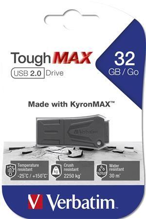 "USB kľúč, extra odolný,  32GB, USB 2.0, VERBATIM ""ToughMAX"","
