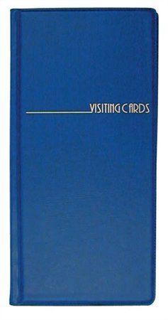 Vizitkár 96ks-ový, PVC, modrý