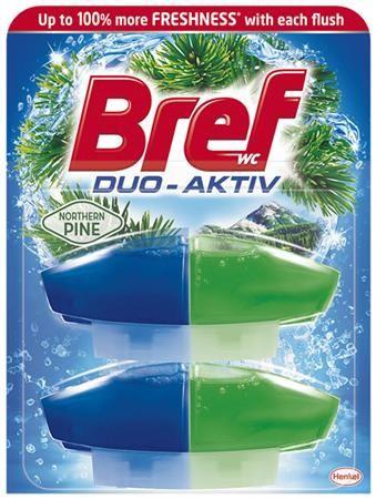 """WC čistiaci gél, náplň, 2x50 ml, BREF """"Duo Aktív"""", borovica"""