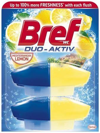 "WC čistiaci gél, náplň, 2x50 ml, BREF ""Duo Aktív"", citrus"