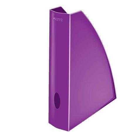 """Zakladač, plastový, 60 mm, LEITZ """"Wow"""", kovovo fialový"""