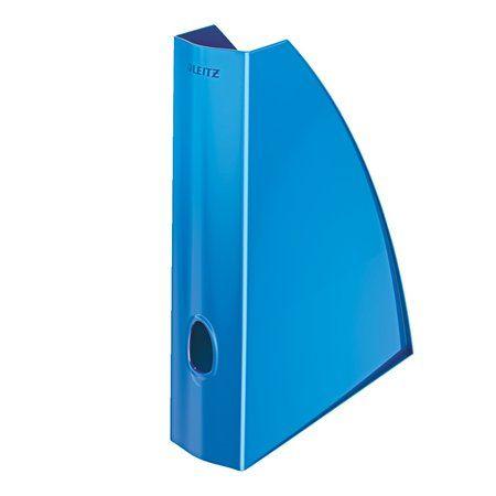 """Zakladač, plastový, 60 mm, LEITZ """"Wow"""", kovový modrý"""