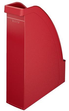 """Zakladač, plastový, 70 mm, LEITZ """"Plus"""", červená"""