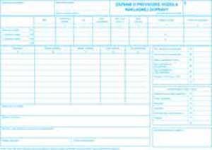 Záznam o prev.vozidla ND A4 100list, cislovanie