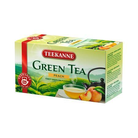 Zelený čaj, 20x1,75 g, TEEKANNE, broskyňa