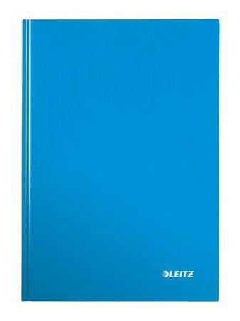 """Zošit, A4, linajkový, 80 listov, tvrdá obálka, LEITZ """"Wow"""", modrý"""