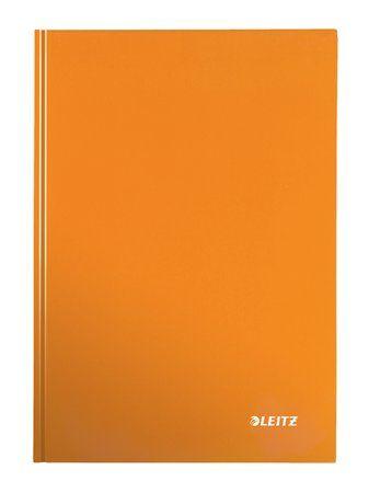 """Zošit, A4, linajkový, 80 listov, tvrdá obálka, LEITZ """"Wow"""", oranžový"""