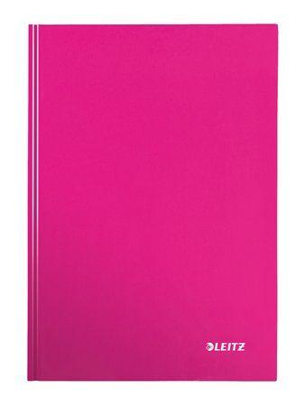 """Zošit, A4, štvorčekový, 80 listov, tvrdá obálka, LEITZ """"Wow"""", ružový"""