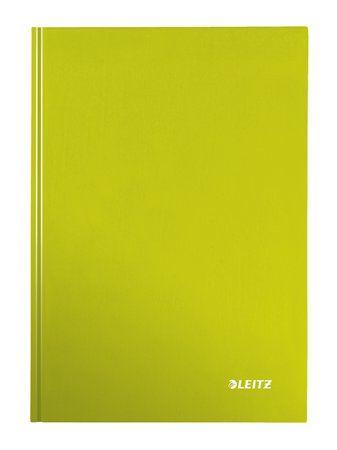 """Zošit, A4, štvorčekový, 80 listov, tvrdá obálka, LEITZ """"Wow"""", zelený"""