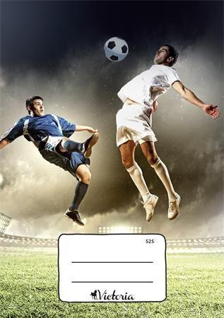 """Zošit, školský, A5, štvorčekový, 20 listov, VICTORIA, """"Futbal"""", """"525"""""""