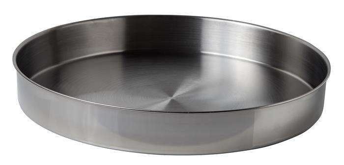 Servírovací podnos, okrúhla, nerezová oceľ, pochrómovaná, 32 cm